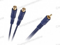 Cablu 2xRCA mama - 1xRCA tata, 0,2m - 401974