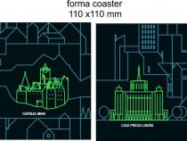 Suport pahar personalizat (coaster)