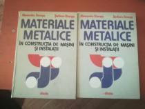 Materiale metalice în CM și instalații (2 vol)