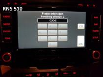 Decodare CD Radio VW Skoda Seat cod PIN safe RNS 315 510 RCD