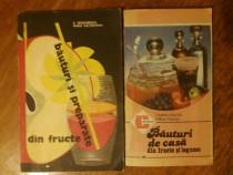 Lot 2 carti bauturi din fructe si legume / R5P4S