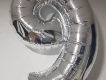 Baloane cifre argintii si aurii 90 cm