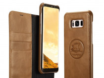Husa piele 2 in 1 iCarer Samsung S8 carte + back cover