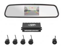 Oglinda Auto si Camera Mers Inapoi cu Senzori Parcare PNI P0