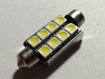 Led auto sofit festoon C5W, 42 mm, 8 SMD 5050, 1W, ALB
