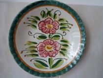 Farfurie ceramica majolica pentru perete, semnata Claudio Be