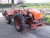 Tractor articulat 4x4 Pasquali MT Diesel 18 cp cu remorca