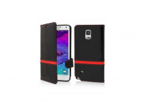 Husa flip book samsung galaxy s5 g900 black & red produs nou