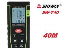 Telemetru / ruleta laser 40M (precizie+-2mm) Sndway seria T