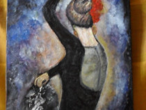 Dansatoarea 1-pictura ulei pe placaj;