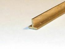 Profil T alama 10x10x2x4000mm CuZn37 CW508L T alama