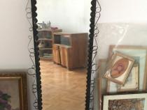Oglinda cu rama metalica 38x170 cm, in stare foarte buna.