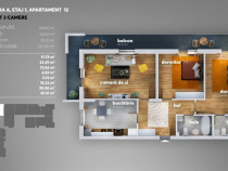 Metalurgiei, apartament nou, 3 camere -94,92mp, proprietar