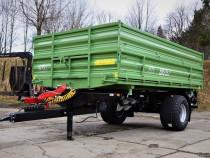 Remorca monoax 9 tone cu descarcare trilaterala WTC