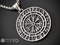 Amuleta Talisman Pandantiv Roata Norocului INOX - cod PND105