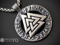 Amuletă Talisman Pandantiv Valknut Odin Rune - cod PND110