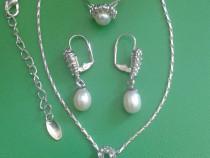 Set bijuterii Yves Rocher, cercei, inel, colier