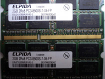 Kit rami laptop elpida ddr3 4gb (2x2gb)-memorie 1066mhz