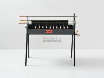 Gratar BBQ rotisor - 3 rotiserie si 11 frigarui - Hands Free