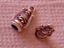 Pandantiv, charm auriu, model lampa ulei, 15*8mm, handmade