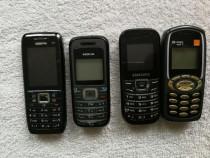 4 tel simple 2 tel Nokia, 1 tel Samsung, și 1 tel sagem