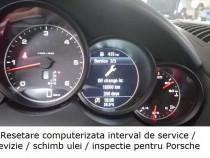 Resetare interval service revizie inspectie ulei Porsche