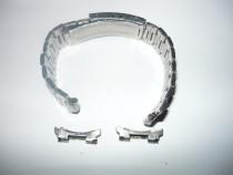 2 curele metalice pt ceas, inox, reglabile