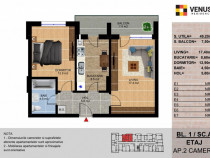 Apartament cu 2 camere, Metalurgiei, imobil nou