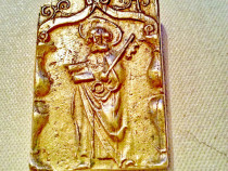 Icoana mica bronz Sf. Petru cu cheia portilor raiului Franta