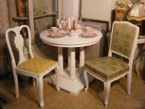 Masa veche din lemn masiv reconditionata (Mobila alba/Table)