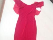 Rochie rosie de catifea pt ocazii, mar S