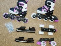 Role 4 roti / patine pt copii - reglabile 26-37 - 3 in 1-Noi
