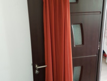 Rochie lunga vaporoasa caramiziu