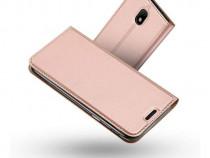 Husa Telefon Flip Book Samsung Galaxy J5 2017 j530 Rose Gold