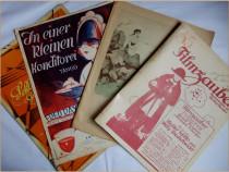 4 partituri muzicale germane - primele decenii ale sec XX