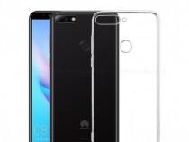 Huawei Y5 Y6 Y7 2018 - Pachet Husa Silicon Sifolie Sticla Fu