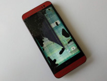 HTC ONE E8 - Display Crapat - Touch inca functional - Rosu.