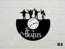 Ceas de perete di vinil The Beatles