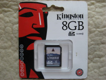 KINGSTON, Anglia, SD Card 8GB, nou, sigilat, eventual schimb