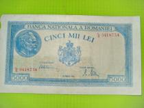 Set 3 bancnote Romania 5000 lei 1943.