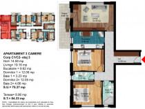 Apartament 3 camere, metrou Berceni - Prima Casa