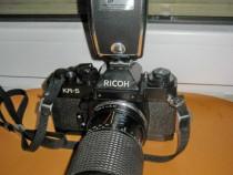 Foto Ricoh Japan obiectiv Tokina blitz Agfa lux. rmc Tokina.