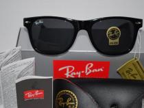 Ochelari de soare ray ban wayfarer 2140-901 black calitate p