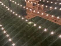 Ghirlande Luminoase Exterior,10 M,Bec LED,Rezistenta,Terasa,