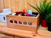 Ladita cutie lemn handmade finisaj lux depozitare lada lemn