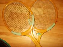 Rachete tenis Dinamo Junior+ huse originale, din lemn