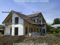 Construim case la rosu si  la cheie cu materiale incluse