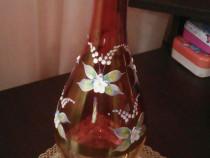 Sticla de bautura veche ( fara dop) pictata manual