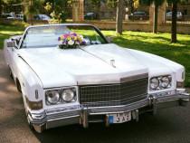 Cadillac decapotabil alb mașina de epoca nunta foto video