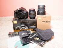 Nikon D5200 kit 18-55mm VR + Obiectiv Nikkor 50mm f/1.8G